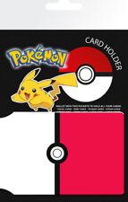 Pokemon Pokeball Gaming Anime Card Holder Travel Pass Oyster Wallet