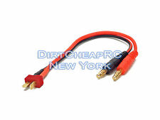 Battery Charger Charging Leads: DEANS ULTRA T-Plug Male to 4mm Bullet Banana