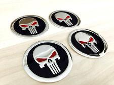 Aufkleber Embleme für Radkappen 4 x 60 mm für PUNISHER schwarz rot silber neu