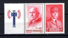 France 1943 Yvert n° 569 + 571 neuf ** 1er choix