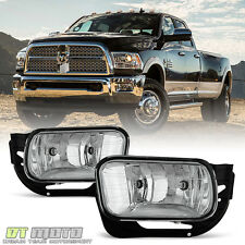 2009-2012 Dodge Ram 1500 10-17 2500 3500 Bumper Fog Lights Driving Lamps w/Bezel