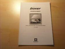 50727) Peugeot Boxer Kastenwagen Preise & Extras Prospekt 07/2002