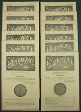 L'ASTRONOMIE : BULLETIN DE LA SAF - 1942 ANNEE COMPLETE 12 N° - METEOROLOGIE