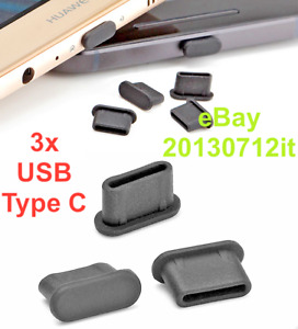 3x USB TYPE-C ANTI-DUST PLUG DUSTPROOF SILICONE for Realme X50 5G