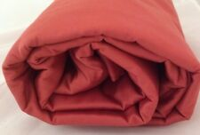 Twin Comforter Duvet Cover Sateen Cedar Brick Red 350 TC Company Store Orange