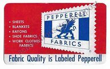 1952 Pocket/Wallet Calendar Pepperell Fabrics Boston, NY, Biddeford ME, Etc