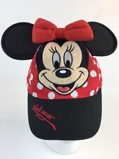 Disneyland Resort Minnie Mouse Toddler 2T 3T 4T 5 Baseball Hat Cap Ears Bow Euc