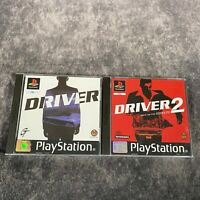Driver 1 & 2 PS1 PlayStation 1 PAL Game Bundle Complete Collection Black Label