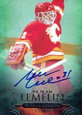 REJEAN LEMELIN SIGNED 2011-12 PARKHURST CHAMPIONS FLAMES CARD AUTOGRAPH AUTO!!