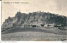 em 141 1912 SAN MARINO Monte Titano viagg - FP - Ed. Brunner Como Zurich