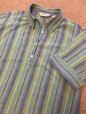 ORVIS FUNKY MULTI STRIPE 4 BUTTON SHORT SLEEVE DECK SHIRT L LARGE