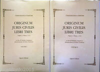 GIANVINCENZO GRAVINA ORIGINUM JURIS CIVILIS LIBRI TRES Tomo 1 e 3 LIGUORI 2005