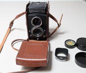 Rolleicord III Kamera mit Xenar 3,5/75mm mit Tasche, Gelbfilter, Sonnenblende
