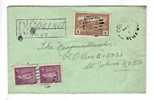(1644)  STAMPS  CANADA  1950 REGISTERED COVER WITHIN NEWFOUNDLAND