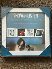 Show And Listen Vinyl Display Frame - White. LP Picture Frame.