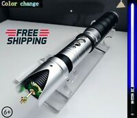 Star Wars Cosplay Lightsaber Luke Skywalker Jedi RGB Laser Force FX Heavy Metal