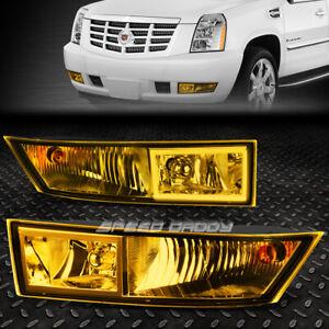FOR 07-14 CADILLAC ESCALADE EXT ESV AMBER LENS BUMPER DRIVING FOG LIGHT LAMPS