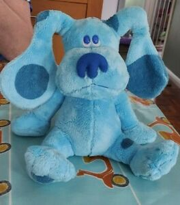 "RARE LARGE 8"" 2006 Ty Beanie Buddies Blue's Clues Dog Soft Plush Stuffed Toy"