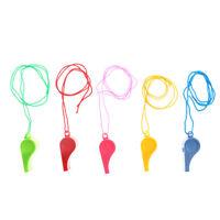 5Pcs/lot Plastic Whistle Wanyard Children Kids Party Bag Filler Outdoor Toys  SS