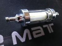 Filtre à essence chromé 6 mm 1/4 démontable lavable /moto/custom/harley/cox
