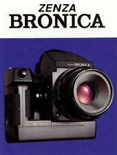 ZENZA BRONICA ETRSi-SQAi-GS1 CAMERA BROCHURE -BRONICA ETRSi SQ-Ai GS-1