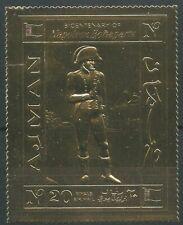 Ajman 1970 ** Mi.505 A Gold Foil Geburtstag Birthday Napoleon Bonaparte Gemälde