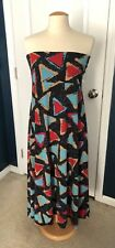 LulaRoe Maxi Skirt, Navy with Blue & Red Triangles, XL NWT