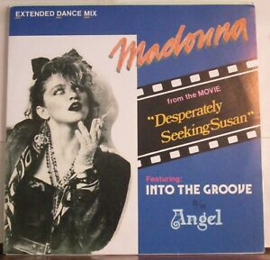 """Madonna """"Into The Groove"""" Phillippines Warner Bros 033 clear vinyl 12"""" single"""