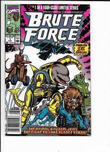 Brute Force #1-4 Marvel 1st app Disney + All Newsstand All High Grade NM/NM-