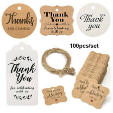 Wedding Party Luggage Jute Twine Thank you Hanging Label Kraft Gift Tags