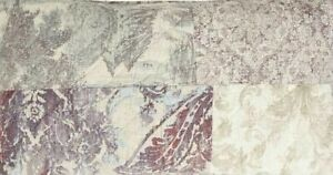Pottery Barn Gray Kali Handcrafted Patchwork Cotton King Quilt & One King Sham