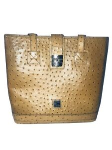 Dooney & Bourke Ostrich Leather Medium Shopper Tote Bag -  Made In USA