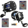 NGT SEA FISHING MULTIPLIER REELS LOADED WITH 25lb SIZE 30 or 50 WITH BOAT RIGS