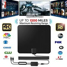 Digital HD TV Antenna Indoor Freeview Aerial Signal Amplified Thin HD 1200 Mile