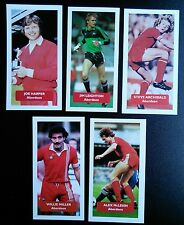 Complete set of 5 ABERDEEN Score UK football trade cards HARPER MILLER LEIGHTON