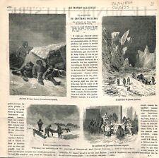 Pôle Nord Les aventures du Capitaine Hatteras par Jules Verne 1866 ILLUSTRATION