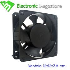 VENTOLA ASSIALE 220V-230V 120X120X38 MM TELAIO IN METALLO PER USI PROFESSIONALI