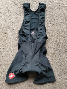 MEN'S CASTELLI CYCLING BIB PADED SHORTS BLACK (LARGE)