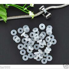 Beads Rubber Stopper Ring Silicone European Charm Bracelet Round Spacer Gemstone