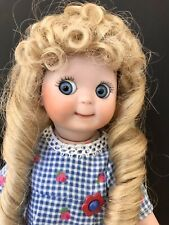 Adorable Handcrafted Bisque Doll with Googly Eyes (Artist Reproduction)