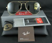 RAY-BAN SUNGLASSES AVIATOR RB 3025 L0205 58MM ARISTA CRYSTAL GREEN AUTHENTIC NEW
