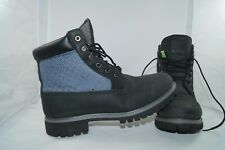 Timberland 6 Inch panel Boot UE 42 W us 8,5 W UK 8 negro/azul