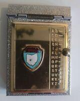 Vintage Miniature Rolodex Pocket Pop Up Address Book Gold Tone Ohio Never Used