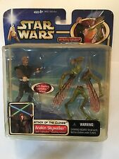 "STAR WARS ANAKIN SKYWALKER & GEONOSIAN WARRIOR 2 FIGURE PACK - 4"" SCALE - EP2"