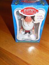Rudolph The Red Nosed Reindeer Talking Santa Figurine