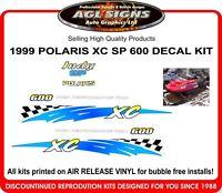 1999 POLARIS INDY XC SP 600 REPRODUCTION DECAL KIT , shroud  graphic