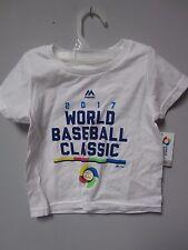 Majestic 2017 World Baseball Classic White Toddler T-Shirt Size 2T