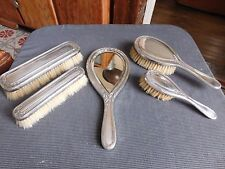 Christofle Gallia face à main 4 brosses métal argenté décor laurier et rubans