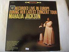 MAHALIA JACKSON RECORDED LIVE IN EUROPE DURING HER LATEST CONCERT TOUR VINYL LP