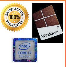 Intel inside Core i7 GEN 7 FREE WINDOWS 10 computer sticker PC Genuine Base 8 xp